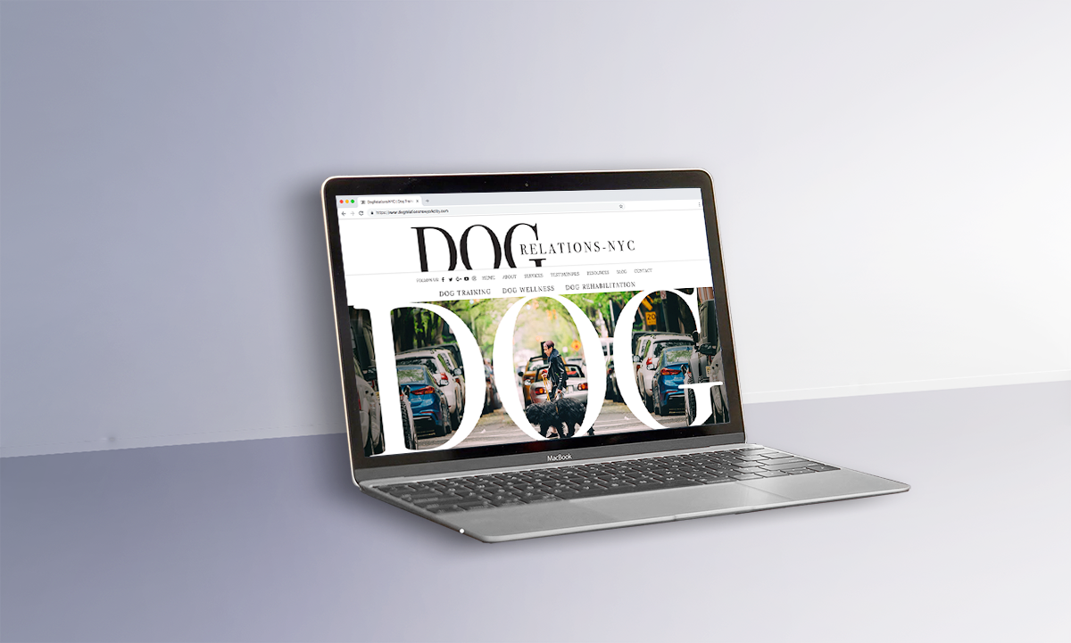 Website design by Hiilite marketing for Dog Relations NYC