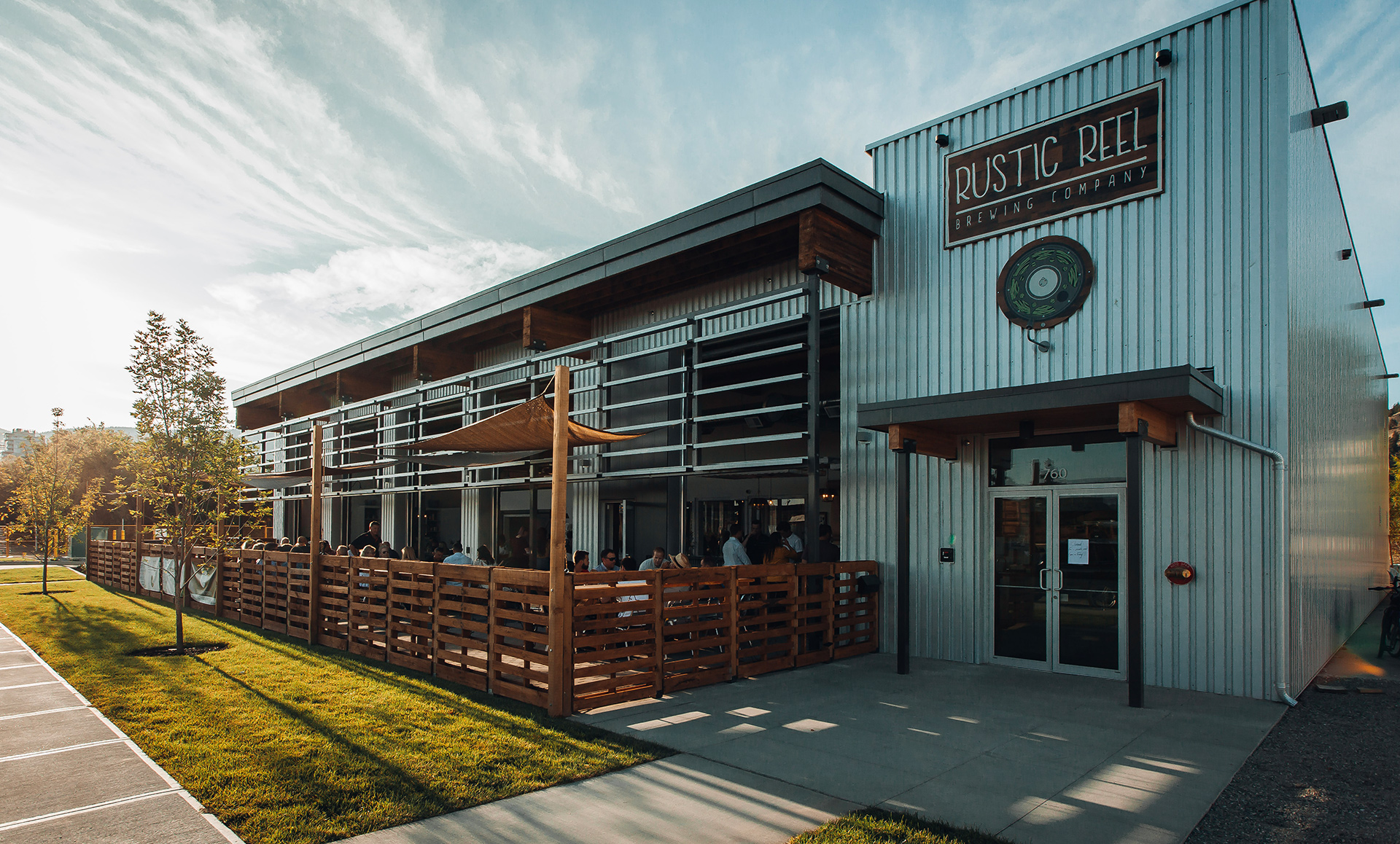 kelowna brewery marketing rustic reel exterior shot