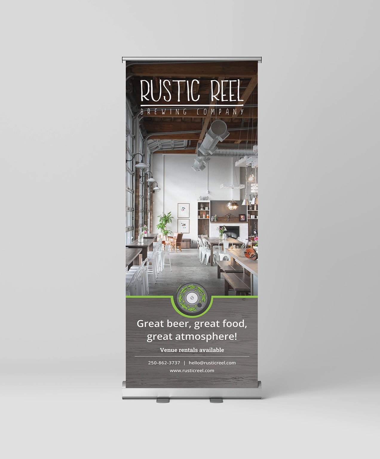 kelowna brewery marketing design print roller banner for events