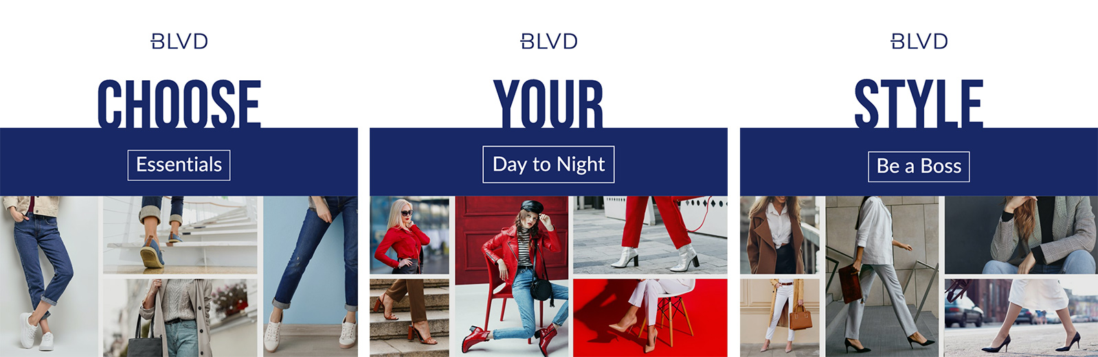 retail shoe store marketing chooose your style campaign