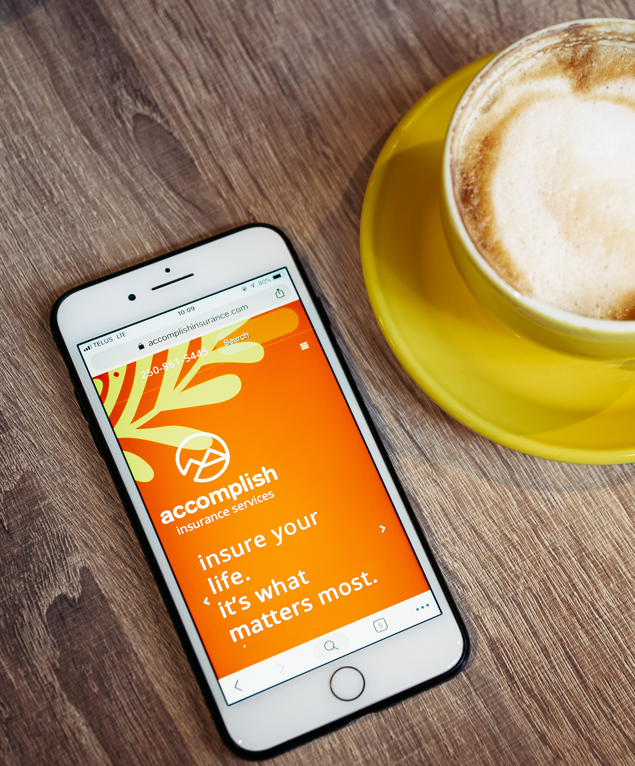 financial services marketing accomplish insurance website on mobile