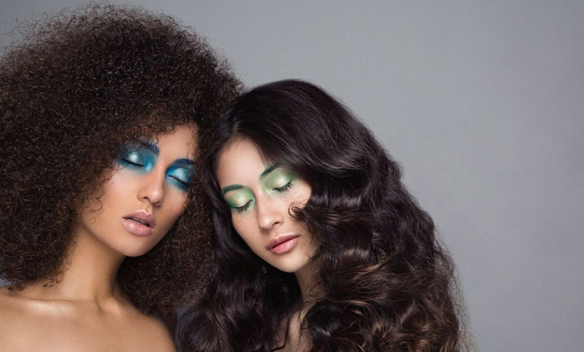 retail and ecommerce marketing organic makeup on models